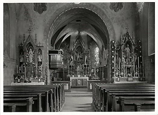 Kircheninnenraum bis 1945