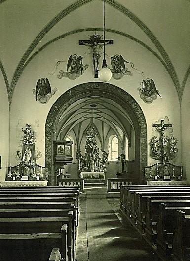Kircheninnenraum bis 1973